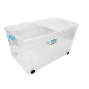 110 Litre Plastic Storage Box Clip & Stack Box with Lid