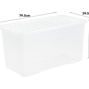 110 Litre Storage Container With Clear Lid