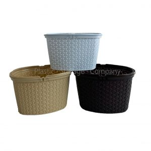 12 Litre Rattan Hamper with Handles - Laundry Basket