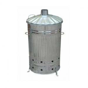 125 Litre Galvanised Incinerator - Burning Fire Bin