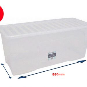133 Litre Storage Box With Clear Lid