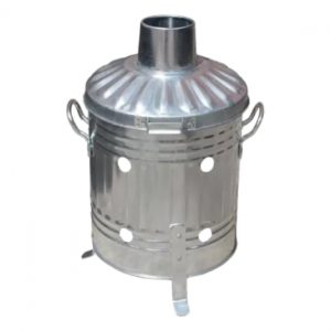 15 Litre Mini Galvanised Incinerator - Small Mini Waste Burner