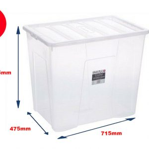 160 Litre Storage Container With Clear Lid