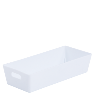 2.01 Plastic Studio Storage Basket - White