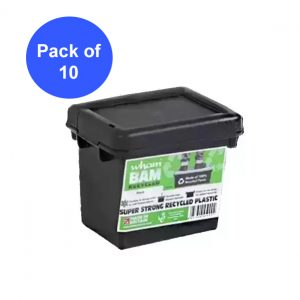 Black Recycled 2.3L Heavy Duty Box & Lid (Pack of 10)