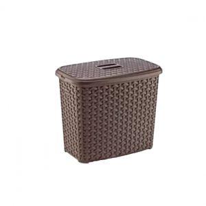2.5 Litre Brown Plastic Rattan Detergent Box