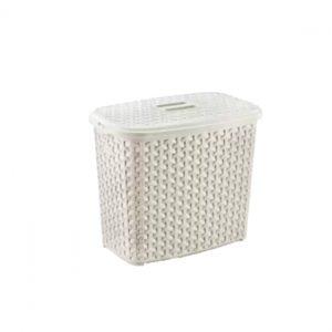 2.5 Litre Cream Plastic Rattan Detergent Box