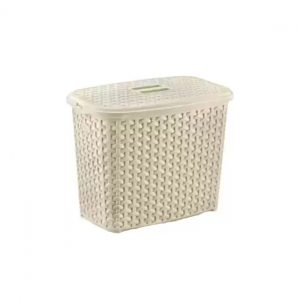 2.5 Litre Light Brown Plastic Rattan Detergent Box