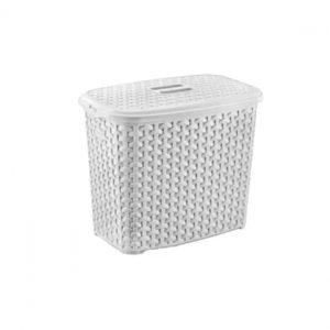 2.5 Litre White Plastic Rattan Detergent Box