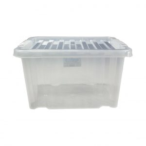 10 x 24 Litre Storage Box With Clear Lid (Pack of 10)