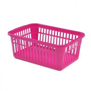 25cm Pink Plastic Handy Storage Basket