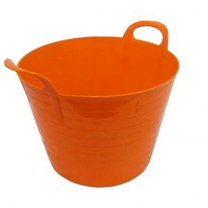 26 Litre Orange Plastic Flexi Tub