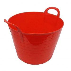 26 Litre Red Plastic Flexi Tub