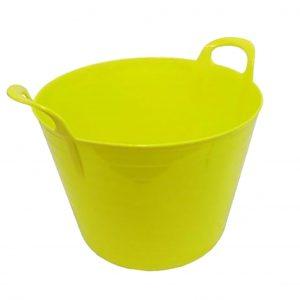 42 Litre Yellow Plastic Flexi Tub