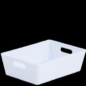 3.01 Plastic Studio Storage Basket - White