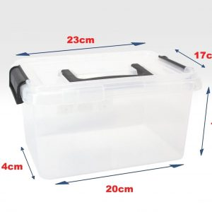 5 x 3.5 Litre Clip & Stack Box With Lids (Pack of 5)