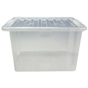 30 Litre Plastic Storage Box with Clear Lid