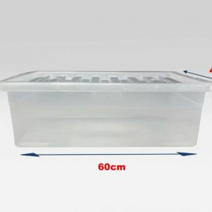 5 x 32 Litre Underbed Container With Clear Lid (Pack of 5)