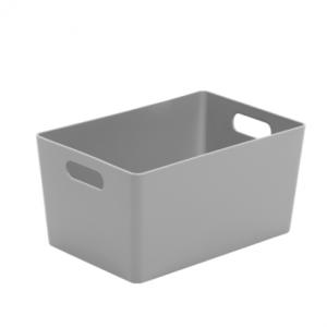 4.02 Plastic Studio Storage Basket - Silver