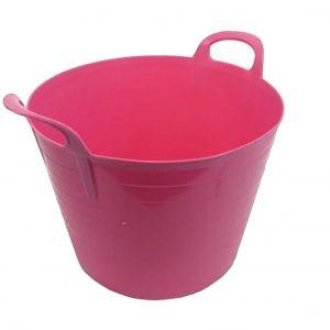 42 Litre Pink Plastic Flexi Tub