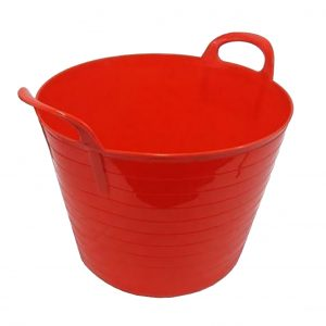42 Litre Red Plastic Flexi Tub