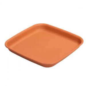 (42 cm) Square Plant Pot Saucer - Terracotta / Graphite