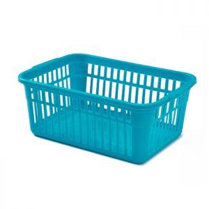 45cm Teal Plastic Handy Basket
