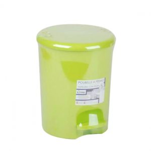5 Litre Lime Green Plastic Waste Pedal Bin