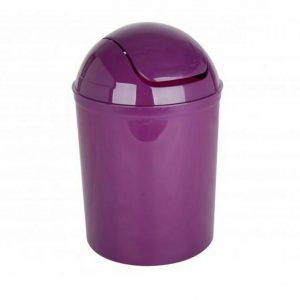 5 Litre PlasticMini Swing Bin - Purple