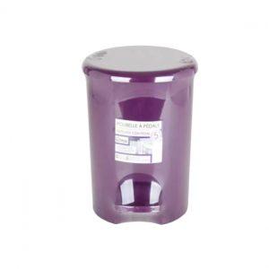 5 Litre Purple Plastic Waste Pedal Bin