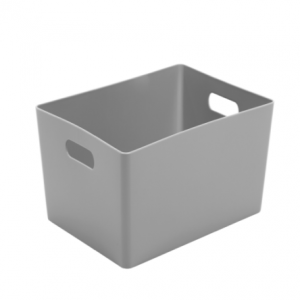 5.02 Plastic Studio Storage Basket - Silver