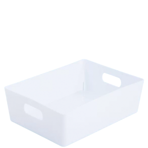 5.01 Plastic Studio Storage Basket - White