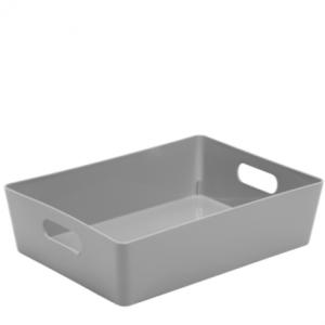 5.01 Plastic Studio Storage Basket - Silver