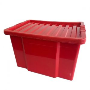 50 Litre Plastic Storage Box – Red / Red Lid