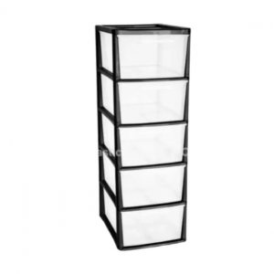 Volcanic Ash 5 Drawer Plastic A4+ Tower