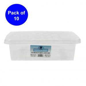 10 x 6 Litre Box With Clear Lid (Pack of 10)