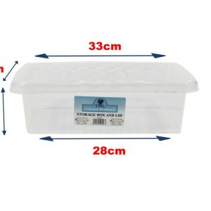 5 x 6 Litre Box With Clear Lid (Pack of 5)