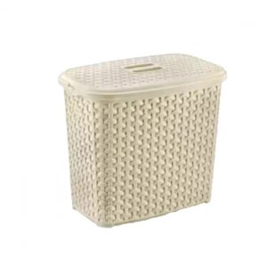 6 Litre Light Brown Plastic Rattan Detergent Box