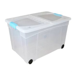 60 Litre Clip & Stack Box With Foldable Lid