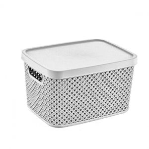Buy 19 Litre Plastic Storage Diamond Box With Lid Plastic Storage Boxes