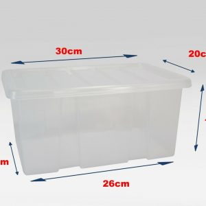 10 x 8 Litre Plastic Box With Clear Lid (Pack of 10)