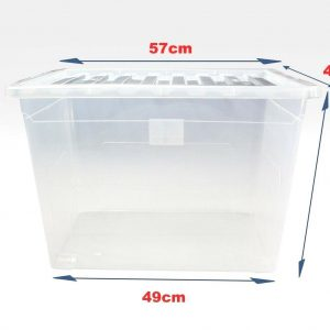 80 Litre Plastic Storage Boxes with Clear Lid (Pallet of 200)