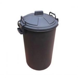 85 Litre Black Plastic Outdoor Bin