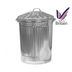 90 Litre Galvanised Metal Dust Bin