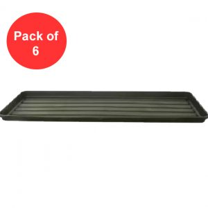 Black Grow Bag Tray (Pack of 6)