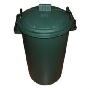 85 Litre Green Plastic Outdoor Bin