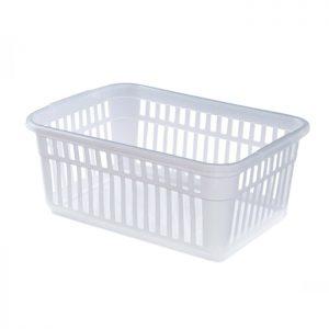 25cm Clear Plastic Handy Storage Basket
