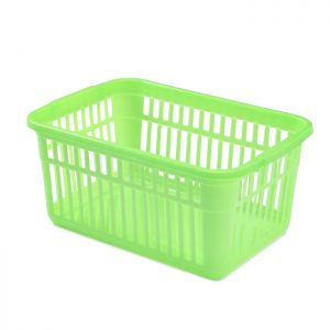 30cm Lime Green Plastic Handy Storage Basket