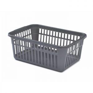 25cm Silver Plastic Handy Storage Basket