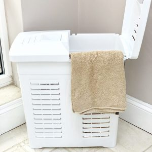 75 Litre White Plastic Laundry Hamper